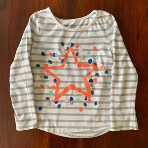 Gymboree Stripped Star Long Sleeve TShirt, Size XS